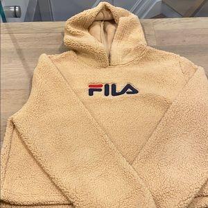 FILA oversized teddy hoodie